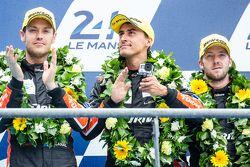 LMP2 podium: tercer lugar #26 G-Drive Racing Ligier JS P2: Roman Rusinov, Julien Canal, Sam Bird