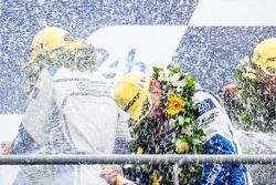 LMP2 podium: class winners #47 KCMG ORECA 05: Matthew Howson, Richard Bradley, Nicolas Lapierre celebrate with champagne