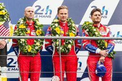 LMGT Pro podium: tercer lugar, #51 AF Corse Ferrari 458 GTE: Gianmaria Bruni, Toni Vilander, Giancar