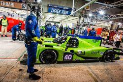 Pit stop for #40 Krohn Racing Ligier JS P2: Tracy Krohn, Nic Jonsson, Joao Barbosa
