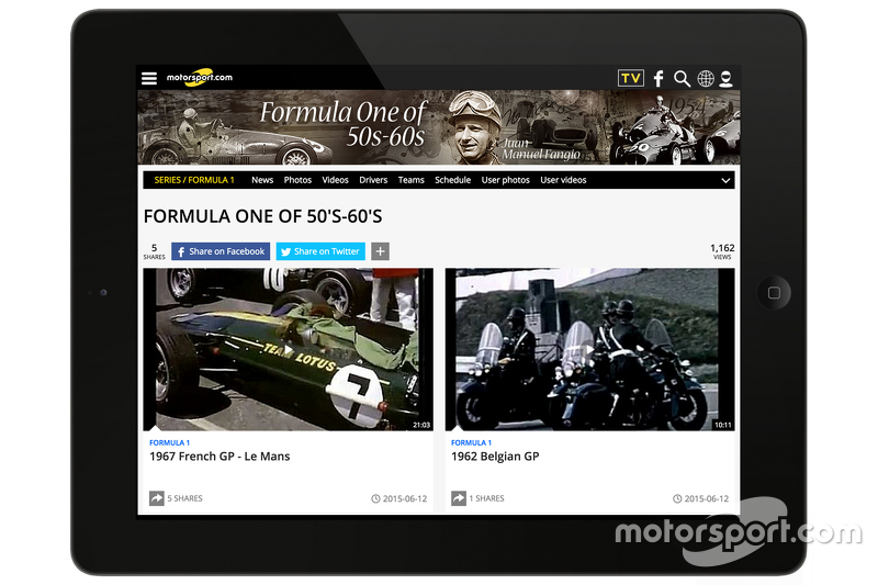 Motorsport.com - Racefans, Screenshot