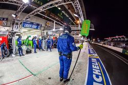 Krohn Racing team member ready for a pit stop