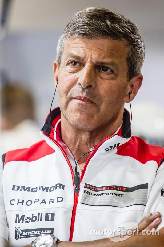 Porsche Team: Fritz Enzinger, Head of Department, LMP2
