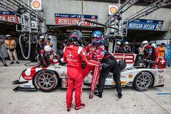 Pit stop for #12 Rebellion Racing Rebellion R-One: Nicolas Prost, Nick Heidfeld, Mathias Beche