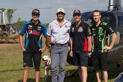 Chaz Mostert, Prodrive Racing Australia Ford, Craig Lowndes, Triple Eight Race Engineering Holden e