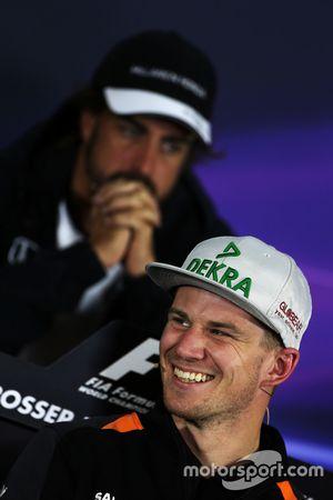 Nico Hulkenberg, Sahara Force India F1, lors de la conférence de presse FIA