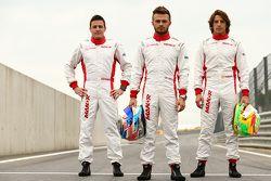 Fabio Leimer, Will Stevens e Roberto Merhi, Manor F1 Team