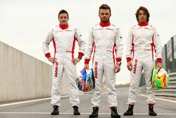 Fabio Leimer and Will Stevens and Roberto Merhi, Manor F1 Team