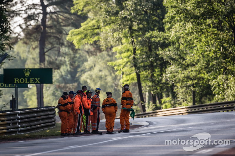 Marshals at Le Mans 24 Hours