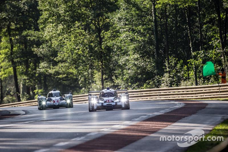 #18 Porsche Team, Porsche 919 Hybrid: Romain Dumas, Neel Jani, Marc Lieb und #2 Toyota Racing, Toyot