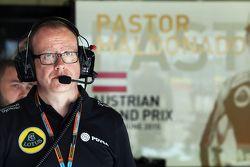 Mark Slade, Lotus F1 Team, ingeniero de carrera
