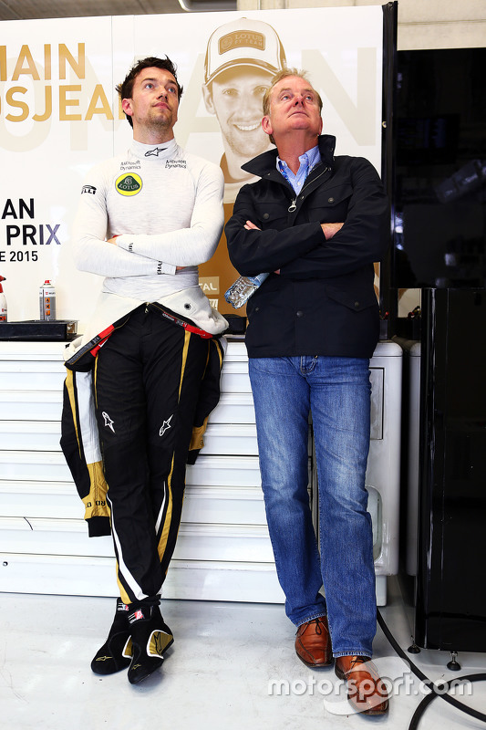 Jolyon Palmer, Lotus F1 Team Test and Reserve Driver with his father Jonathan Palmer