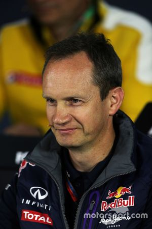 Paul Monaghan, Red Bull Racing, Ingeniero Jefe en la conferencia de prensa de la FIA