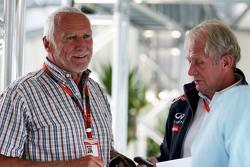 Dietrich Mateschitz, CEO e fondatore di Red Bull con Dr Helmut Marko, Consulente Red Bull Motorsport