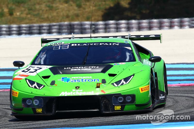 #63 GRT Grasser Racing Team Lamborghini Huracan GT3: Giovanni Venturini, Adrian Zaugg, Mirko Bortolo