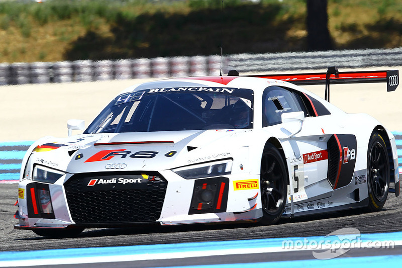 #5 Phoenix Racing Audi R8 LMS: Christopher Haase, Christopher Mies, Marcel Fässler