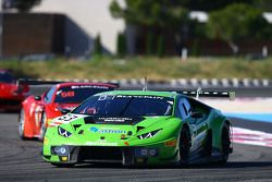 #63 GRT Grasser Racing Team, Lamborghini Huracan GT3: Giovanni Venturini, Adrian Zaugg, Mirko Bortol