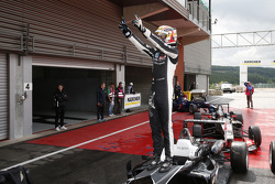 Race winner Charles Leclerc, Van Amersfoort Racing Dallara F312 Volkswagen