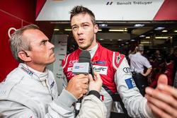 #7 Audi Sport Team Joest Audi R18 e-tron quattro: Andre Lotterer, Benoit Tréluyer interviewés par Eric Hélary
