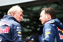 Доктор Хельмут Марко, консультант Red Bull Motorsport, и Кристиан Хорнер, руководитель Red Bull Raci