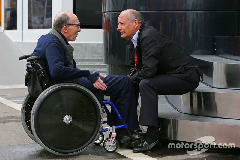 Frank Williams, Williams Team Owner with Ron Dennis, McLaren Executive Chairman