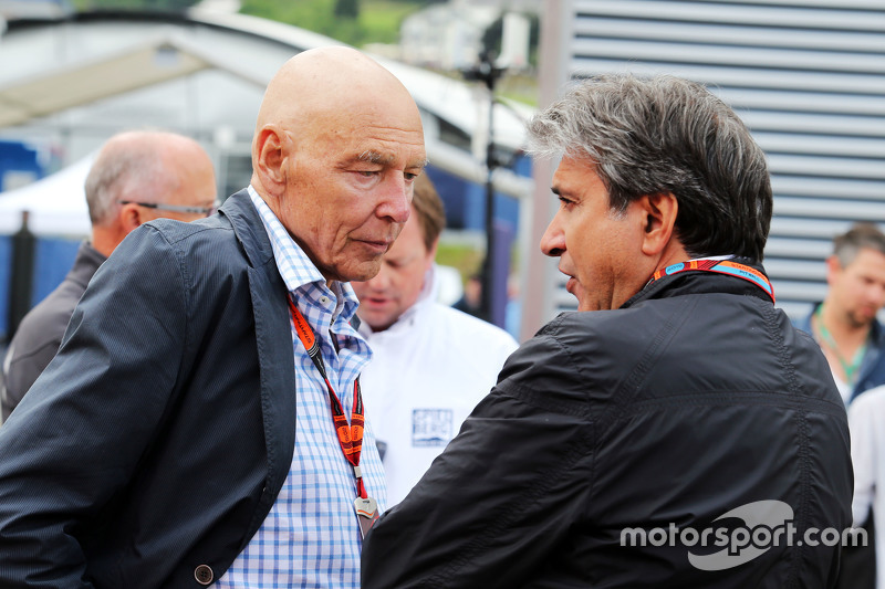 Peter Brabeck-Letmathe, Formula One Chairman with Pasquale Lattuneddu, of the FOM