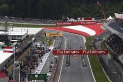 GP2-Autos reihen sich auf am Start