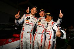 Racewinnaars Wolfgang Reip, Alex Buncombe, Katsumasa Chiyo