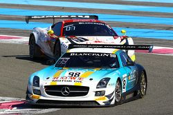 #98 Team Astana by Rowe Racing Mercedes SLS AMG GT3: Nicolai Sylvest, Indy Dontje, Daniel Juncadella