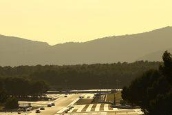 Il tramonto durante la corsa