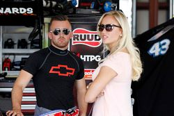 Austin Dillon, Richard Childress Racing Chevrolet with his girlfriend