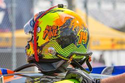 Helmet of Austin Dyne, Bryan Herta Rallysport Ford