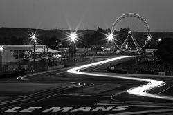 Night lights at Le Mans