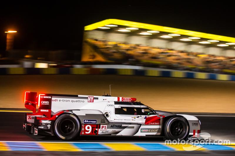 #9 Audi Sport Team Joest, Audi R18 e-tron quattro: René Rast, Filipe Albuquerque, Marco Bonanomi