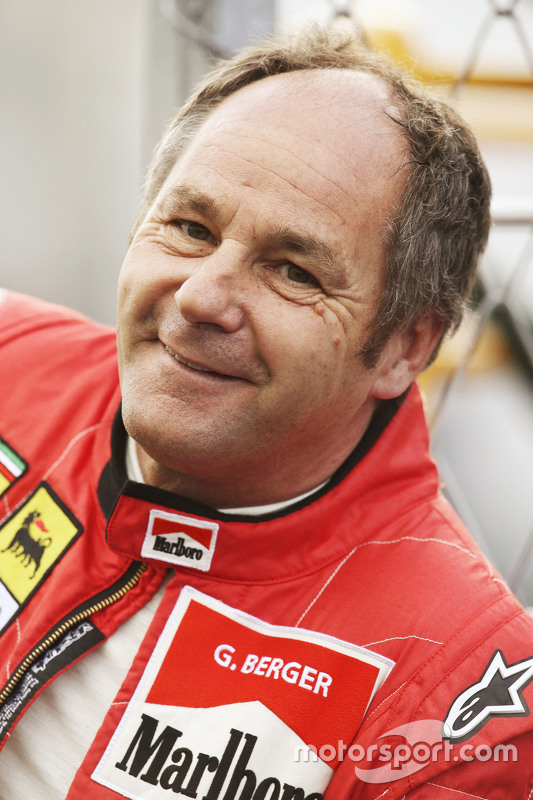 Gerhard Berger, at the Legends Parade