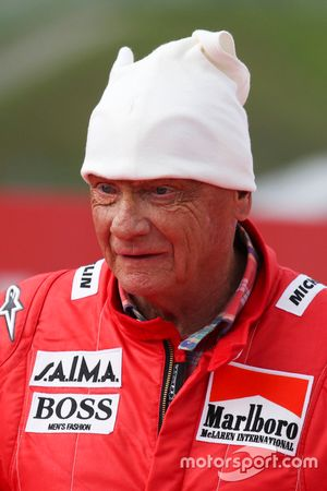 Niki Lauda, Mercedes, en el desfile de leyendas