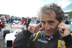 Alain Prost, en el desfile de leyendas