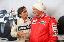 Nelson Piquet e Niki Lauda, Presidente non esecutivo Mercedes alla Parata delle Leggende