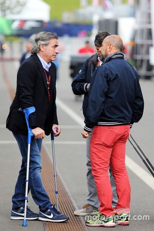 Carlos Sainz with Ivan Capelli, President of ACI Milano