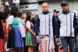 Valtteri Bottas, Williams ile Felipe Massa, Williams geçit töreninde