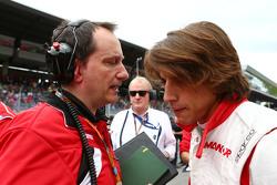 Gianluca Pisanello, Ingegnere capo Manor F1 Team con Roberto Merhi, Manor F1 Team sulla griglia di partenza