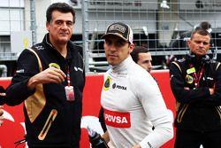 Пастор Мальдонадо, Lotus F1 Team и Федерико Гастальди, заместитель руководителя команды Lotus F1 Tea