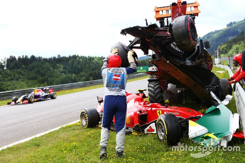 Spielberg 2015: accrochage Alonso/Räikkönen