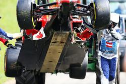 La Ferrari SF15-T danneggiata di Kimi Raikkonen, Ferrari