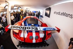 The new Ford GT 2016-spec GTE that will be raced by Chip Ganassi Racing at the 2016 24 Hours of Le Mans