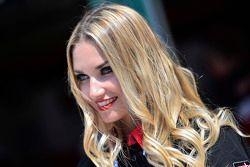 Una encantadora chica Ducati