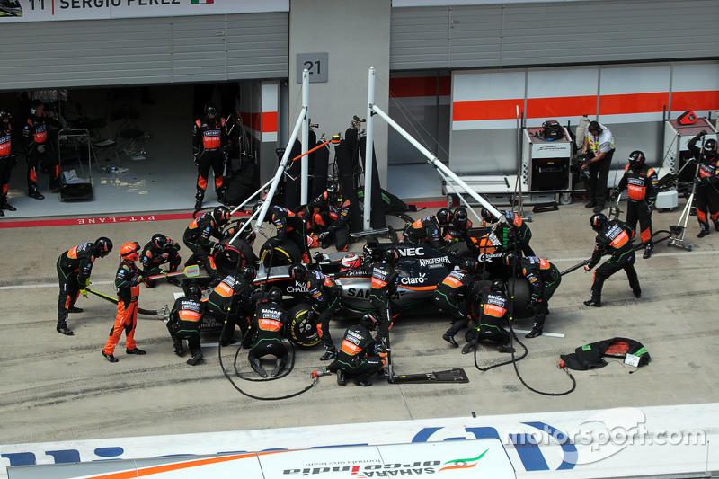 Ніко Хюлкенберг, Sahara Force India F1 VJM08 робить піт-стоп