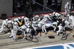 Felipe Massa, Williams FW37 effettua un pit stop