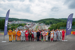 Jean Todt, FIA President with Formula 3 European Championship drivers