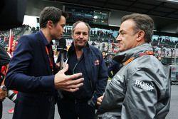 Gerhard Berger und Jean Alesi in der Startaufstellung